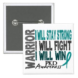 PKD Warrior 2 Inch Square Button