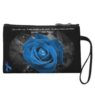 PKU Awareness Blue Rose Quote Mini Cluth Wristlets