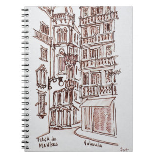 Placa de Manises in Old Town | Valencia, Spain Notebooks