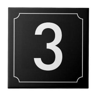 Placard House Number Black Tile