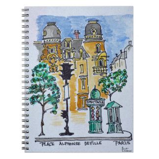 Place Alphonse Deville | Paris, France Spiral Notebook