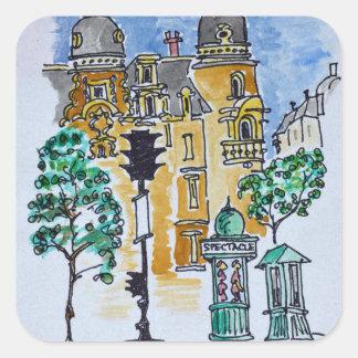 Place Alphonse Deville | Paris, France Square Sticker