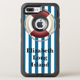 Place and Name Beach Design OtterBox Defender iPhone 8 Plus/7 Plus Case