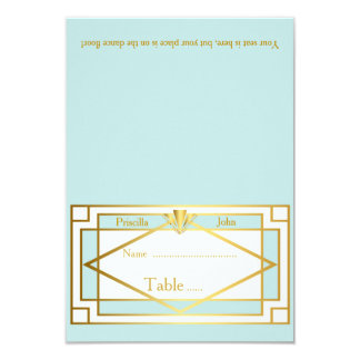 Place Card,Wedding,Meeting,Great Gatsby,mint white Card