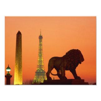 Place de la Concorde; Eiffel Tower; Obelisk; Photo