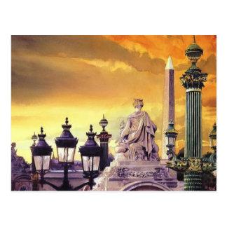 Place de la Concorde Paris Watercolor Post Cards