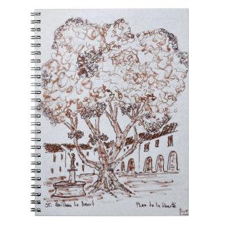 Place de la Liberte, Saint-Guilhem-le-Desert Spiral Notebook