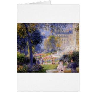 Place de la Trinite by Pierre-Auguste Renoir Card