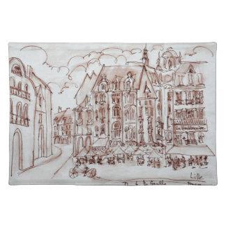 Place du General de Gaulle | Old Town, Lille Placemat