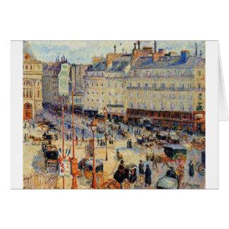 Place du Havre, Paris by Camille Pissarro Card