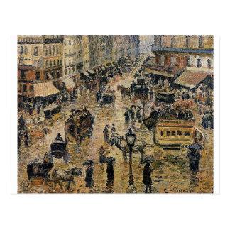 Place du Havre, Paris by Camille Pissarro Postcard