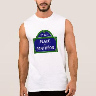 Place du Pantheon, Paris Street Sign Sleeveless Shirt