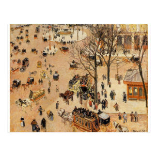 Place du Theatre Francais by Camille Pissarro Postcard