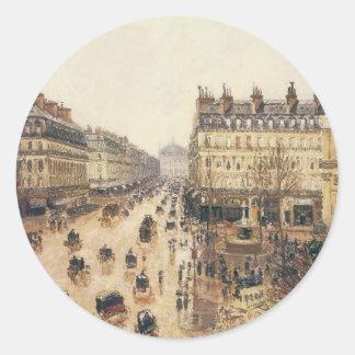 Place du Theatre Francais, Paris : Pluie par Sticker Rond