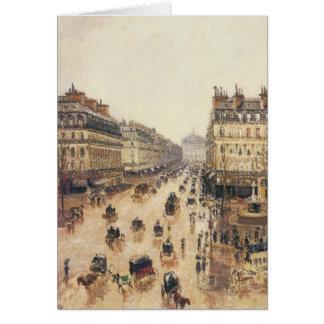 Place du Theatre Francais, Paris : Pluie par Carte De Vœux