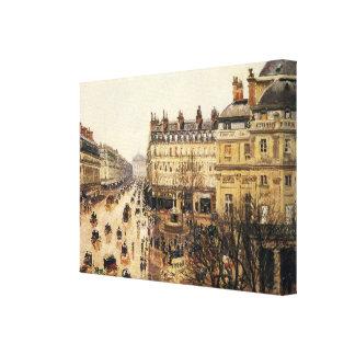 Place du Theatre Francais, Paris : Pluie par Toile Tendue Sur Châssis