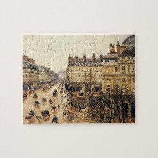 Place du Theatre Francais, Paris Rain by Pissarro Jigsaw Puzzle
