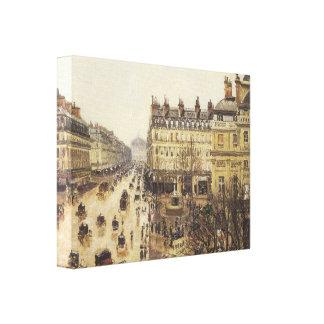 Place du Theatre Francais Rain 1898 Canvas Print