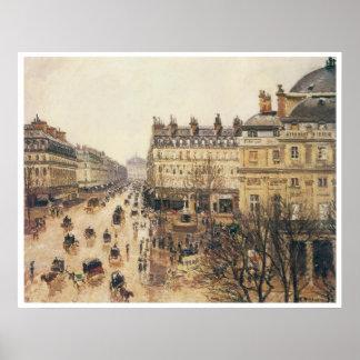 Place du Theatre Francais, Rain, 1898 Poster