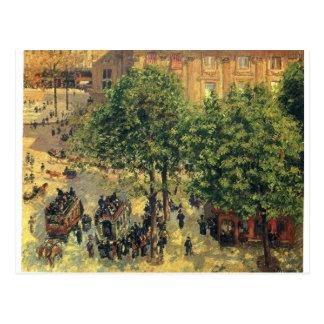 Place du Theatre-Francais, Spring Camille Pissarro Postcard