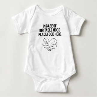 Place Food Here Baby Bodysuit