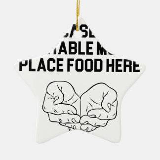 Place Food Here Ceramic Ornament