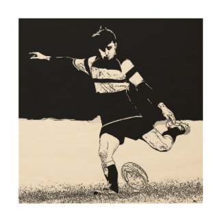 Place Kick - Rugby Wood Print