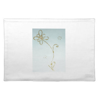 Place mats with flower printing
