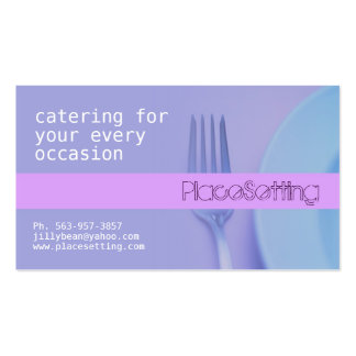 Place Setting Business Cards
