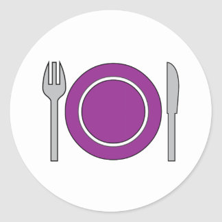 Place Setting Classic Round Sticker