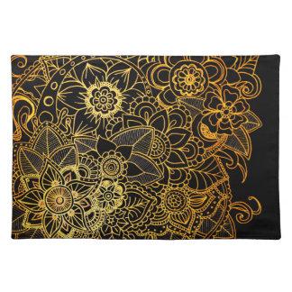 Placemat Floral Doodle Gold G523