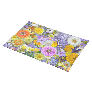 Placemat - Flowers and Butterflies