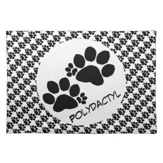 Placemat - Polydactyl Paw Prints (v.2)