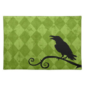Placemat - 'Raven Song' in Harlequin Print