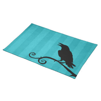 Placemat - 'Raven Song' in Stripes Print