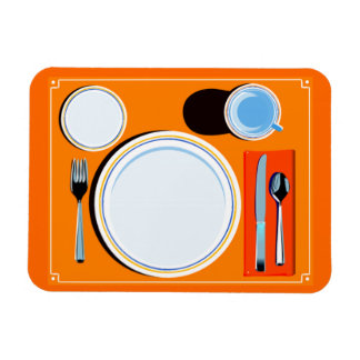 Placemat setting magnet