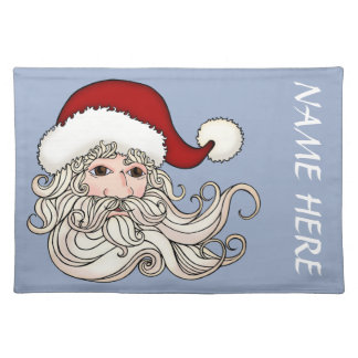 Placemat with Santa Head And room For Your Name