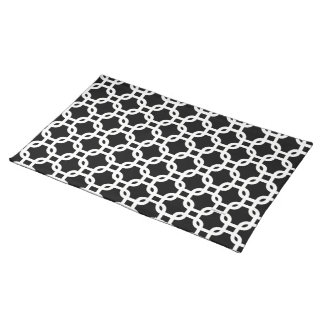 Placemats Black and White Pattern