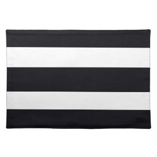PLACEMATS Cloth Placemat BLACK & WHITE STRIPES