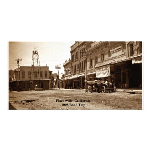 Placerville, California 1908 Raoad Trip Picture Card
