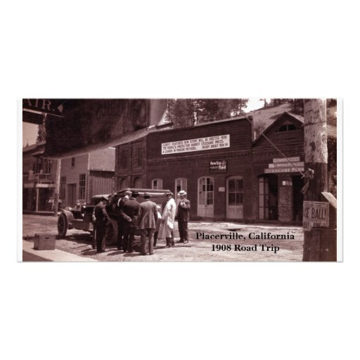 Placerville, California 1908 Road Trip Photo Card