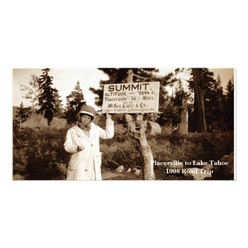Placerville to Lake Tahoe 1908 Road Trip Photo Card