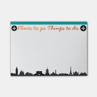 Places To Go, Things To Do Post-it Post-it Notes