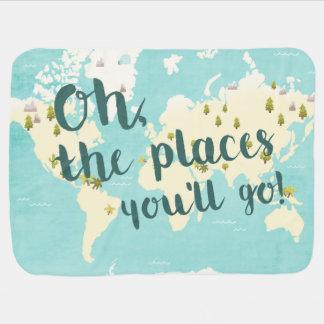 Places you'll go World Baby Blanket Cute Nursery