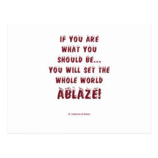 Placez le monde enflammé ! cartes postales