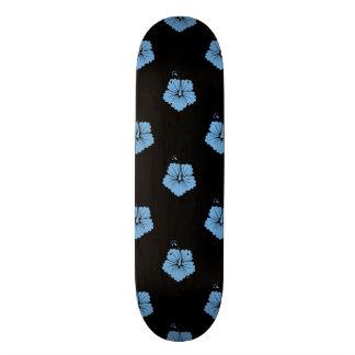 Placid Blue Flower Pattern 3 Skate Boards