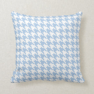 Placid Blue Houndstooth Throw Pillow