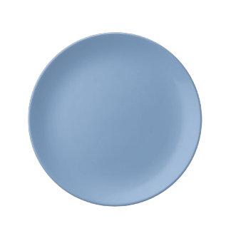 Placid Blue Porcelain Plates