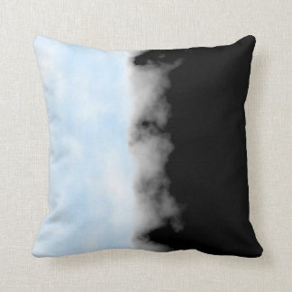 Placid Blue White Black Druzy Geode look Throw Throw Pillow