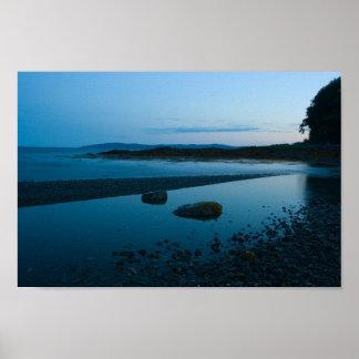 Placid Evening, Penobscot Bay, Maine. Poster